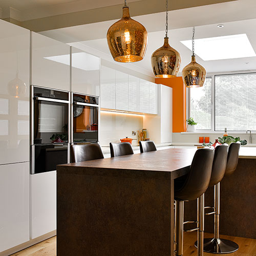 Gloss and Bronze textured kitchen (Shoreham-by-Sea)