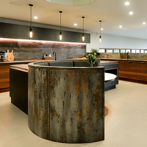 Industrial Slate & Copper Oak Kitchen (Surrey Hills)